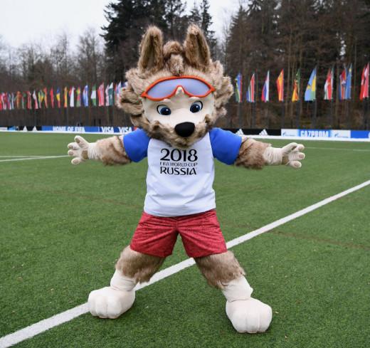 ワールドカップサッカー2018ロシア大会公式マスコットキャラクター「ザビワカ」
