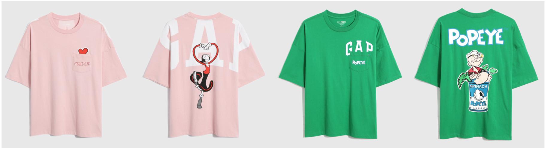 「Gap」が「POPEYE™」と限定コラボしたTシャツ