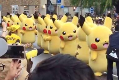 100体を超えるピカチュウが登場したピカチュウ・カーニバル・パレード
