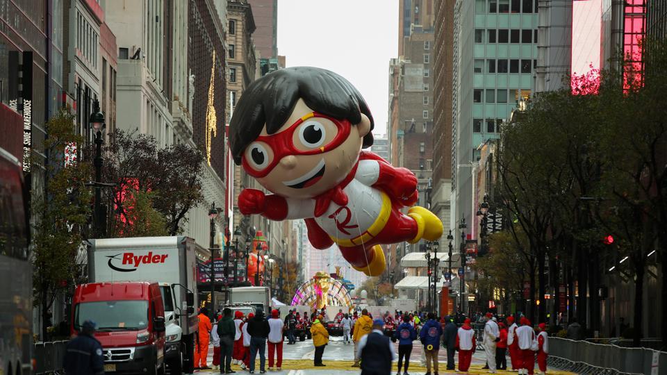 2020 Macy's parade Red Titan