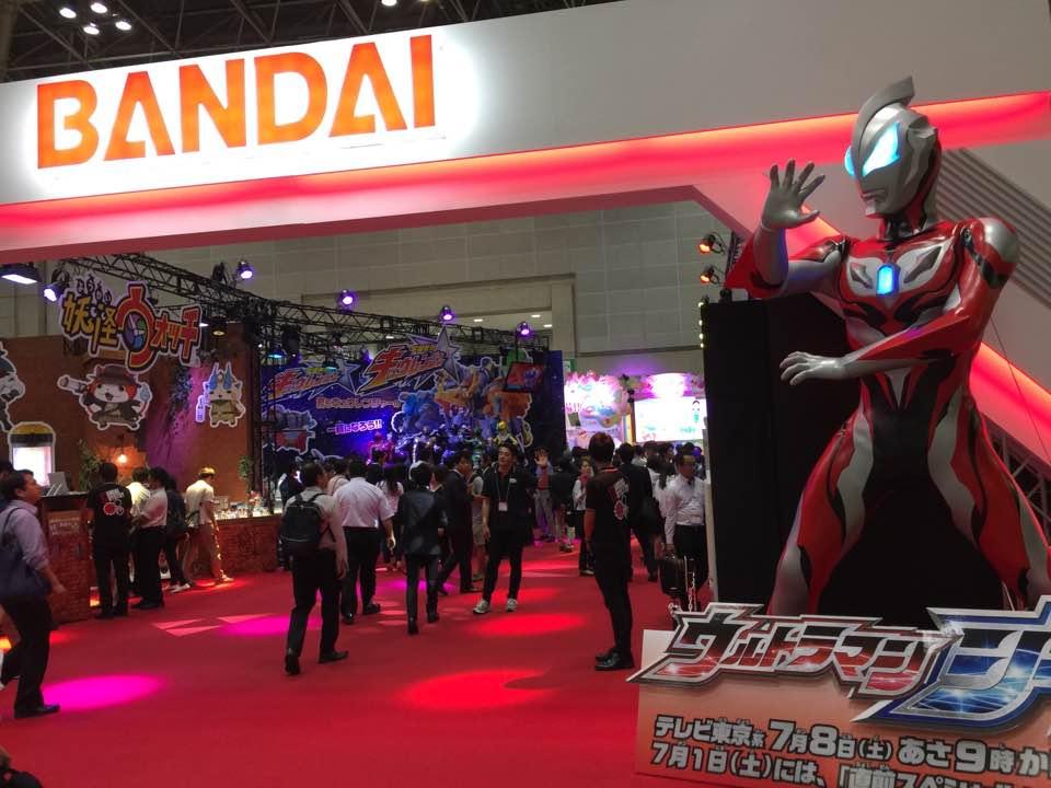 東京おもちゃショー2017年のバンダイブースのエントランス